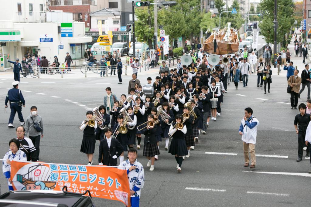 10-7天保山まつり菱垣廻船パレード(大阪港開港150年記念)